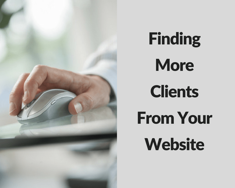 Finding More Clients From Your Website - Ford Henderson Marketing